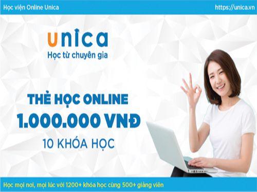 Hình minh họa: Lớp học trực tuyến online unica.vn