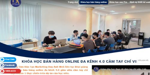 Hình minh họa: Khóa học online Duy Anh web